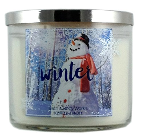 Bath & Body Works Home Winter Scented Candle 3 Wick 14.5 Oz Holiday 2015 Limited Edition Candle Bath