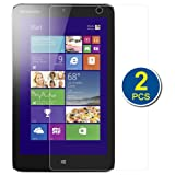 BIRUGEAR 2-Pack Premium HD Crystal Clear LCD Screen Protector for Lenovo Miix2 8'' Windows 8.1 Tablet