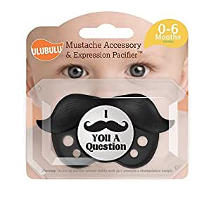 Amazon.com : Bigote Chupete accesorios, Negro, 0-6 Meses