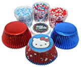 Official Hello Kitty Cupcake Kit by Crispie Sweets - Sprinkles and Baking Cups Set