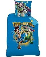 CTI 042820 Toy Story Game Housse de Couette 140 x 200 cm + 1 Taie 63 x 63 cm Coton/Polyester Bleu Lot de 2