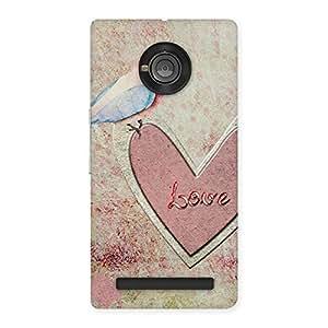 Bird Drawing Heart Back Case Cover for Yu Yuphoria