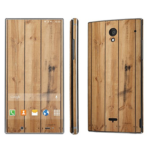 Sharp Aquos Crystal Skin [NakedShield] Scratch Guard Vinyl Skin Decal [Full Body Edge] [Matching WallPaper] - [Wood Stripes] for Sharp Aquos Crystal (Sharp Aquos Crystal Wood compare prices)