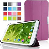 MoKo Samsung Galaxy Tab 3 8.0 Case - Ultra Slim Lightweight Smart-shell Stand Cover Case for Samsung Galaxy Tab 3 8.0 inch SM-T3100 / SM-T3110 Android Tablet, PURPLE (with Smart Auto Wake / Sleep Feature. WILL NOT Fit Samsung Galaxy Tab 4 8.0)