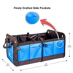 Trunk Organizer Foldable Customizable Compartments 11 pockets by LeClassiqueShop