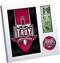 NCAA Troy Trojans 201 Red Digital Desk Clock by WinCraft