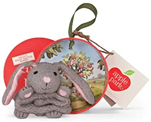 """Apple Park Picnic Pal Organic 4"""" Wrist Rattle, Bunny (Discontinued by Manufacturer)"""