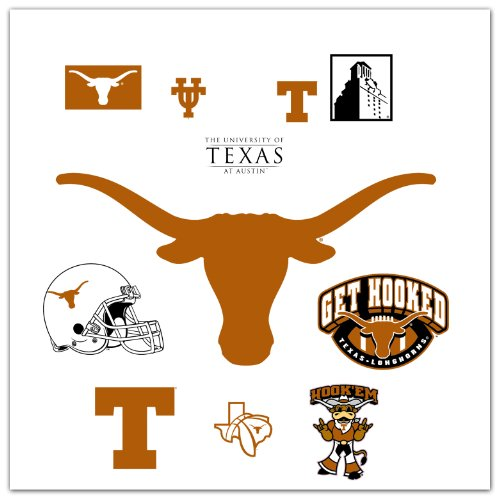 Roommates Rmk1834Gm University Of Texas Peel And Stick Giant Wall Decal With 3 Hooks front-1026061