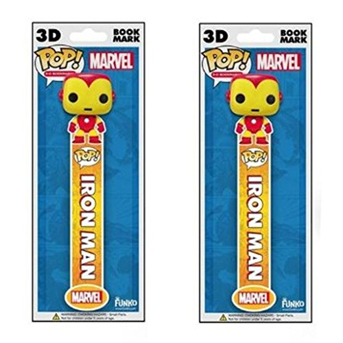 Funko Marvel Iron Man 3D Bookmark (2 Pack)