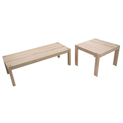 Protege Homeware Natural Oak Veneer Loki Set of 2 Tables