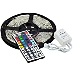 5M 16.4Ft RGB 5050SMD 300LED Waterproof Flexible LED Light Strip lamp + 44Key IR Remote (Supports Max 5 meters of RGB LED flexible strips)