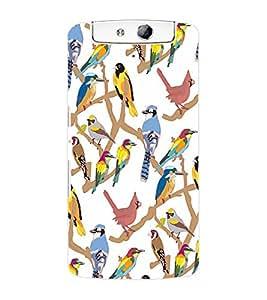 ColourCraft Bird Design Back Case Cover for OPPO N1