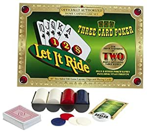 Let It Ride and Three Card Poker Casino Card Game Set