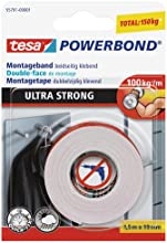 tesa doppelseitiges Montageband ULTRA STRONG, 1,5m x 19mm