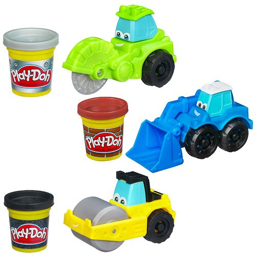 Play-Doh Tool Crew Set Of 3 - Chip The Cutter, Rolland The Steamroller & Sam The Scooper front-68403