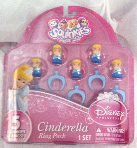 Squinkies Cinderella Ring Pack