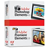 Adobe Photoshop Elements 4.0 plus Adobe Premiere Elements 2.0 - Complete package - 1 user - CD - Win - English