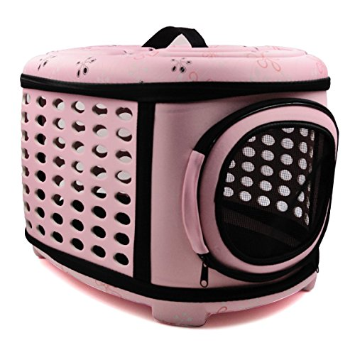 Hippih Folding Outdoor Pet bag for Dog Cat Comfort Airline Approved Travel Large Size Pet Carrier (Pink)