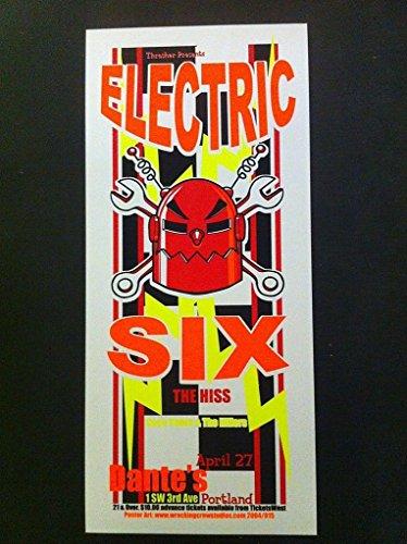 Electric Six Dantes Portland Oregon Ltd Edition Silkscreen Concert Tour Poster