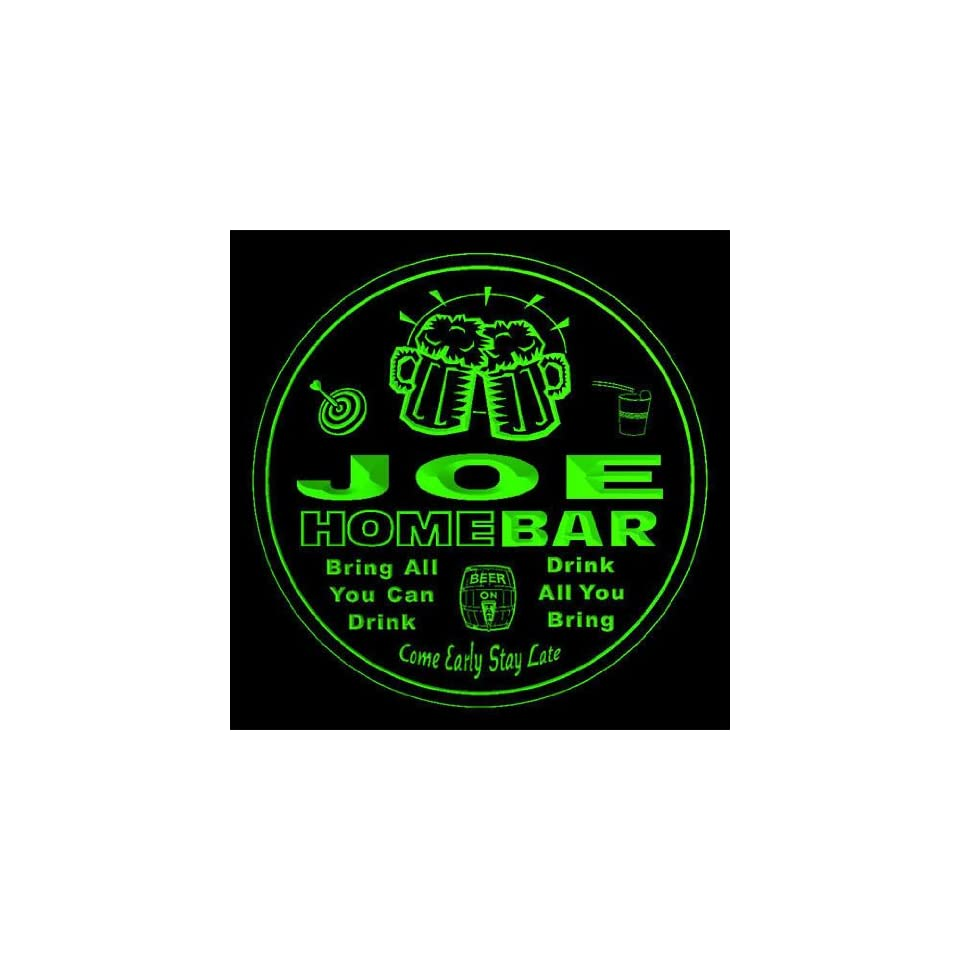 4x ccq22186 g JOE Family Name Home Bar Pub Beer Club Gift 3D Engraved Coasters