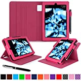 roocase Kindle Fire HD 7 2014 Case, new Kindle Fire HD 7 Dual View Folio Case with Sleep / Wake Smart Cover with Multi-Viewing Stand for All-New 2014 Fire HD 7 Tablet (4th Generation), Magenta