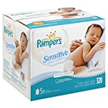Pampers Sensitive Wipes, Perfume Free, 320 wipes