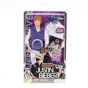 Justin Bieber Singing Doll on Amazon Com  Justin Bieber Special Edition Singing Doll Never Say Never