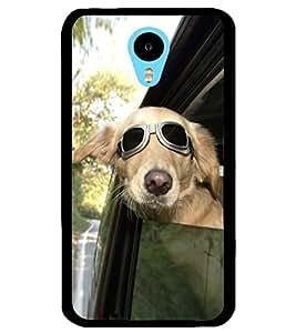 ColourCraft Funny Dog Design Back Case Cover for MEIZU M1 NOTE