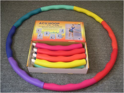 VIEW price of Weighted Sports Hula Hoop for Weight Loss - Acu Hoop 3 lb.