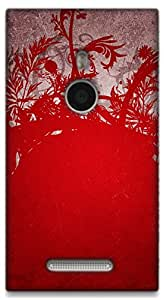 The Racoon Grip Wild Red hard plastic printed back case / cover for Nokia Lumia 925