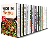 img - for Weight-Loss Recipes Box Set (12 in 1): Over 400 Atkins Slow Cooker, Coconut Oil, Bone Broth, Microwave, Pressure Cooker Meals and Healthy and Delicious ... Weight with Pleasure (Healthy Weight Loss) book / textbook / text book