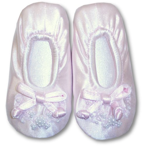 Cheap Tendertoes Pink Toddler Ballerina Slippers With Beads (B000I9QYGM)