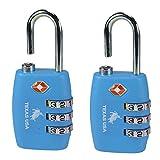#8: Texas USA - TSA Lock - Pack of 2 Florescent Blue Locks - Mandatory for US Customs ( ONLY ORIGINAL BRANDED LOCK ONLINE ! )