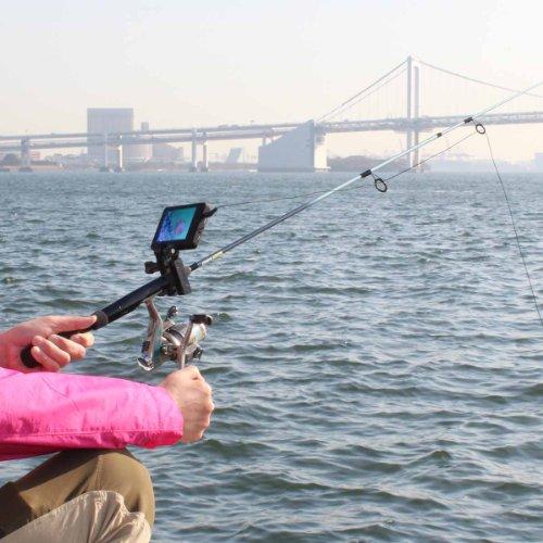 釣竿に付けたモニターで魚を確認!赤外線水中魚っちカメラ:LCDCM2K2