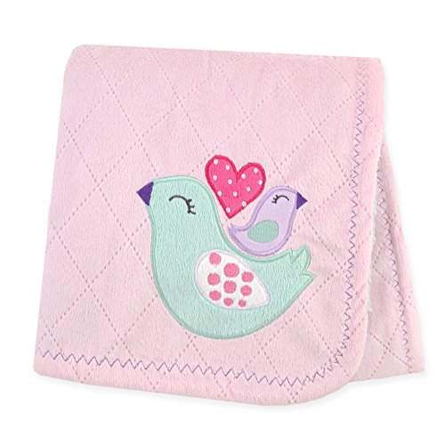 Carter's Plush Valboa with Microplush Blanket, Bird/Pink/Turquoise