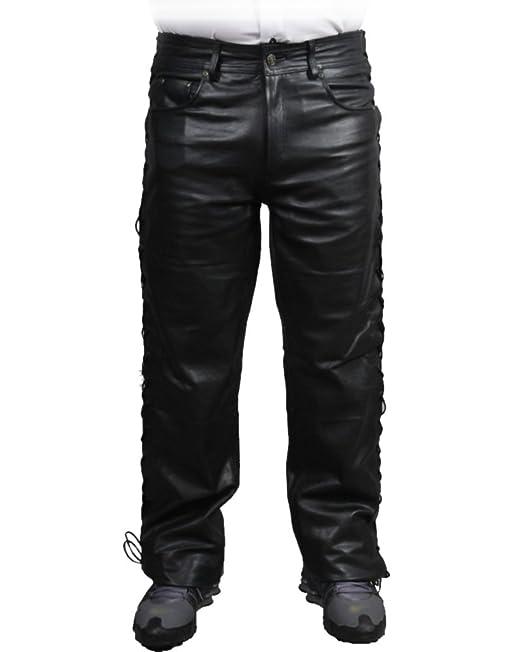 Unbekannt - Pantalon en cuir vachette