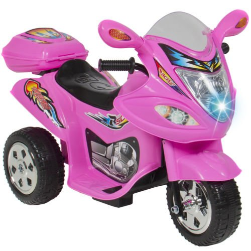 Kids Ride On Motorcycle 6V Toy Battery Powered Electric 3 Wheel Power Bicycle (Club Car 6 Volt Batteries compare prices)