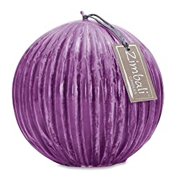 Northern Lights Candles Zimbali Ball Candle, 5.5-Inch, Amethyst