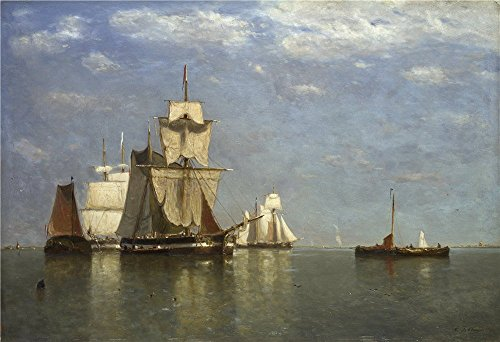 [Perfect Effect Canvas ,the High Definition Art Decorative Prints On Canvas Of Oil Painting 'Paul Jean Clays Ships Lying Off Flushing ', 20 X 29 Inch / 51 X 74 Cm Is Best For Gym Artwork And Home Decoration And] (Animals That Begin With S)