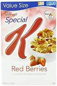 Kellogg's Special K Cereal, Red Berries, 14.7 Ounce (Pack of 3)