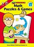 Math Puzzles & Games, Grade 1