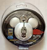 Disney World Parks Mickey Mouse USB Hub - 3 Port/White/PC/Mac