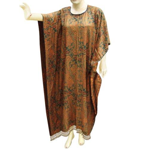 Handmade Paisley Design Women Long Wear Cotton Kaftan Or Caftan (Free Shipping) Cftn0052