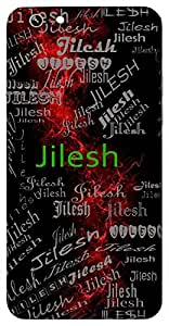 Jilesh (Hindu Boy) Name & Sign Printed All over customize & Personalized!! Protective back cover for your Smart Phone : Samsung Galaxy Note-5
