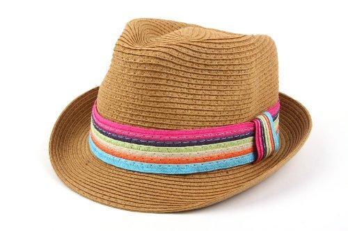 Straw Hipster Fedora Hat