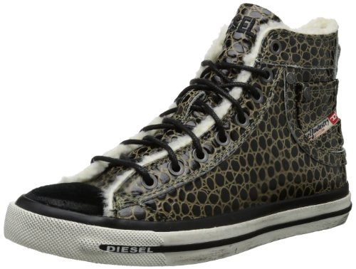 Diesel MAGNETE EXPOSURE IV W Y00638 P0145, Sneaker donna, Nero (Schwarz (dusty green/black H2392)), 36