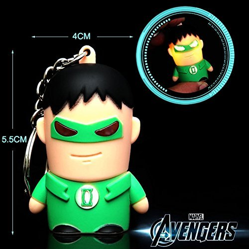 3pcs/Lot 5.5CM The Avengers Marvel Captain America/The Hulk/Spider Man Action Figures Toys Keychain Backpack strap #EB