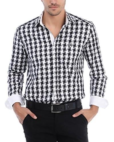 RNT23 Hemd schwarz/weiß