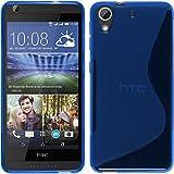 HTC Desire 626 TPU グリップケース [ 2015 HTC Desire626 626S SIMフリー 5インチ スマートフォン 楽天モバイル 対応 ] 滑止め加工 / ソフトフィット / 光沢加工【 Design S Blue (ブルー) 】…