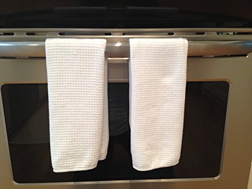 Luxe Home Essentials Microfiber Kitchen Dish Towels Super Absorbent Dish Towels 3 Pack Garden